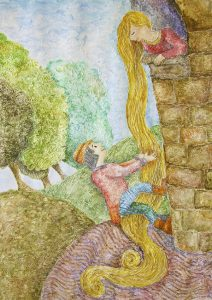 Fairy Tale Illustration - Rapunzel