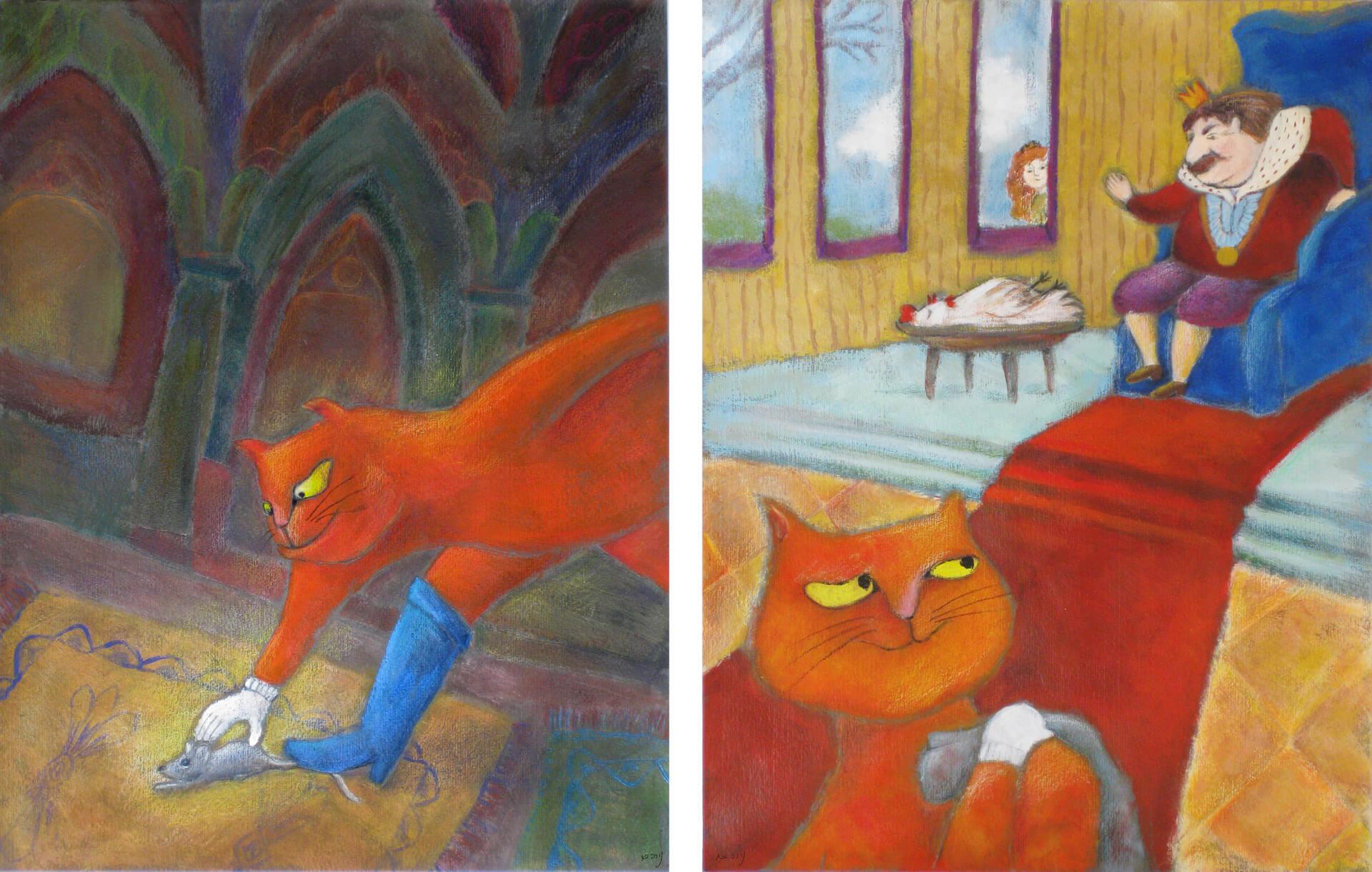 חתול במגפיים - איורים 2 - 3