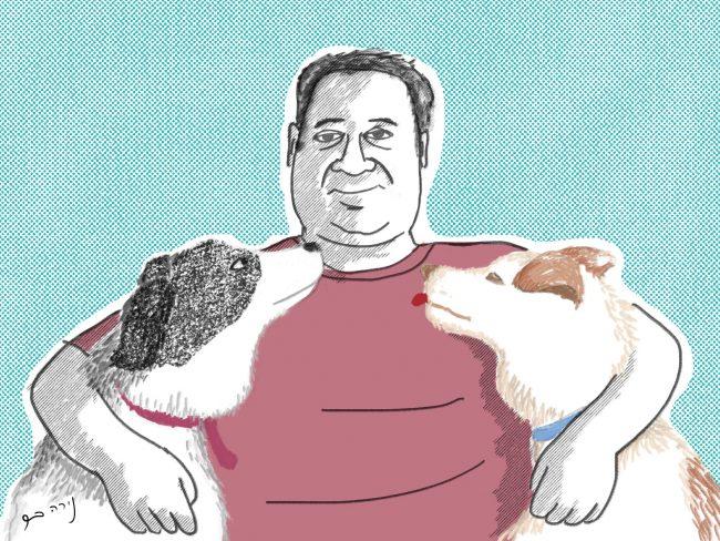 Digital Illustration – Man with a Dog