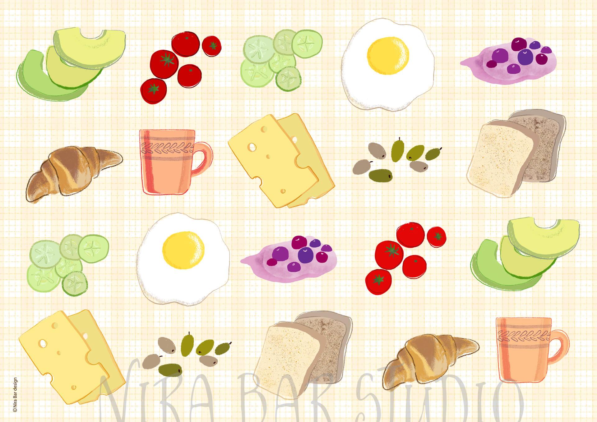 פלייסמנט ארוחת בוקר טפט